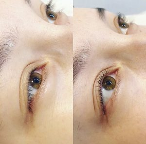 eyelash perm before and after 2